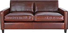 Habitat Chester 2 Seater Leather Sofa - Tan