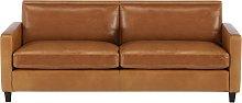 Habitat Chester 3 Seater Leather Sofa - Mid Tan