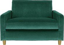 Habitat Chester Velvet Cuddle Chair - Emerald Green