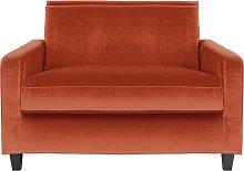 Habitat Chester Velvet Cuddle Chair - Orange