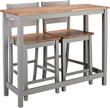 Habitat Chicago Bar Table and 2 Stools - Grey