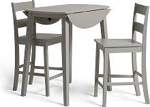 Habitat Chicago Extending Bar Table & 2 Stools -