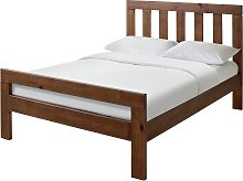Habitat Chile Small Double Bed Frame - Dark Stain