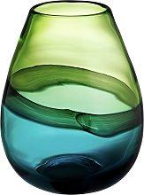 Habitat Cielo Blue And Green Tulip Glass Vase