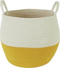 Habitat Clio Storage Basket - White and Yellow