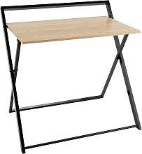 Habitat Compact Folding Office Desk - Black & Oak