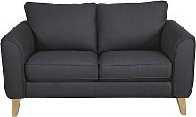 Habitat Cooper 2 Seater Fabric Sofa - Charcoal