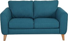 Habitat Cooper 2 Seater Fabric Sofa - Teal