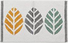 Habitat Cotton Geo Leaf Bath Mat - Multicoloured