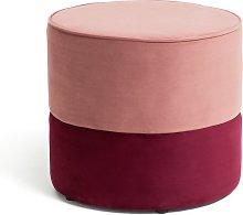 Habitat Cupcake Velvet Footstool - Pink