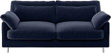 Habitat Cuscino 2 Seater Velvet Sofa - Navy