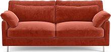 Habitat Cuscino 2 Seater Velvet Sofa - Orange