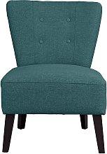 Habitat Delilah Fabric Cocktail Chair - Teal
