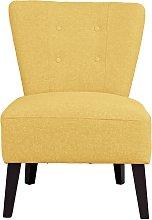 Habitat Delilah Fabric Cocktail Chair - Yellow