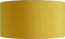 Habitat Drum Silk 35cm Shade - Yellow