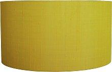 Habitat Drum Silk 49cm Shade - Yellow