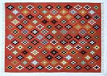 Habitat Eliza Diamonds Cotton Wool Rug - 160x230cm