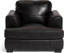 Habitat Elmton Leather Sofa Chair - Black