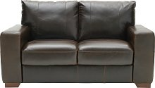 Habitat Eton 2 Seater Leather Sofa - Dark Brown