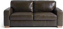 Habitat Eton 3 Seater Leather Sofa - Dark Brown