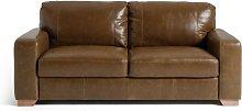 Habitat Eton 3 Seater Leather Sofa - Tan