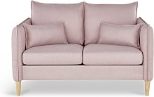 Habitat Etta 2 Seater Fabric Sofa in a Box - Pink