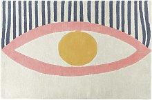 Habitat Eyes Wool Rug - 120x180cm - Multicoloured