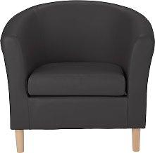 Habitat Faux Leather Tub Chair - Black