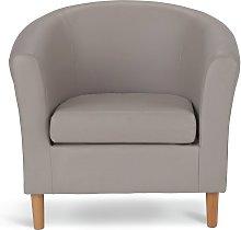 Habitat Faux Leather Tub Chair - Mocha