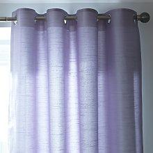Habitat Faux Plain Silk Lined Eyelet Curtain -