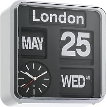 Habitat Flap City Wall Clock - Black