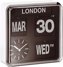 Habitat Flap Small City Wall Clock - Black