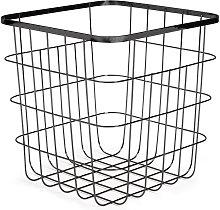 Habitat Flat Wire Squares Storage Basket - Black