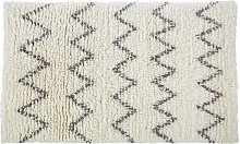 Habitat Flokati Flatweave Wool Rug - 120x180cm - Cream