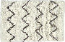 Habitat Flokati Flatweave Wool Rug - 80x130cm - Cream