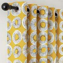 Habitat Floral Burst Print Lined Eyelet Curtains -