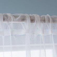 Habitat Floral Net Voile Curtain Panel - White -