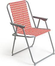 Habitat Folding Metal Picnic Chair - Geo Orange