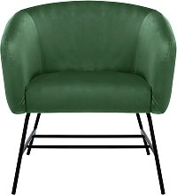 Habitat Freya Velvet Accent Chair - Green