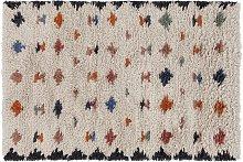 Habitat Geo Cut Pile Wool Rug - 120x180cm -