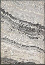 Habitat Glam Marble Cut Pile Rug - 160x230cm - Grey