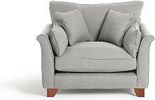 Habitat Gracie Fabric Cuddle Chair - Grey