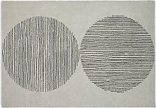 Habitat  Graphic Circles Cotton Wool Rug -