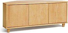 Habitat Grooved Storage 3 Door Corner TV Unit - Pine