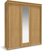 Habitat Hallingford 3 Door Sliding Wardrobe - Oak