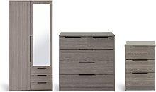 Habitat Hallingford 3 Piece Wardrobe Set - Grey