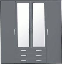Habitat Hallingford 4 Door 3 Drawer Mirror