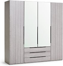 Habitat Hallingford 4 Door 3 Drawer Wardrobe -