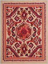 Habitat Handmade Persian Inca Rug - 120x160cm - Red