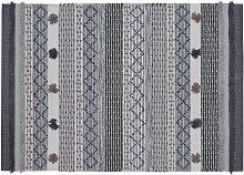Habitat Handwoven Wool Blend Rug - 120x160cm - Grey